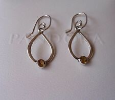 Pandora Silver & Citrine Drop Compose Earrings #290622CI and Posts #290602. New.