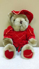 "11"" Godiva Bear, Red Velvet, Stuffed Animal, Plush Toy, Jointed"