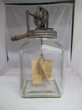 Vintage 8 Quart Glass Butter Churn, 206-P