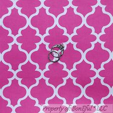 BonEful FABRIC FQ Cotton Woven Decor Pink White Damask Pattern Print Calico Girl