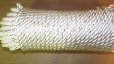 """NEW 3/8"""" x 110' 3-Strand Nylon Rope, Anchor Line, Dock Line, White"""