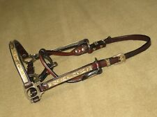 Stunning VINTAGE CIRCLE Y Western Yearling Show Halter with ALPACA SILVER BRONZE