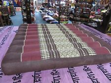 Double Stitched Thai Flat Floor Cushion 50x50cm Meditation Yoga Cotton Kapok