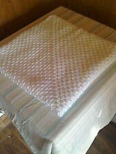 Hand Made Crochet Baby Blanket  30x30 inches Pram Cot  WHITE FREE POST