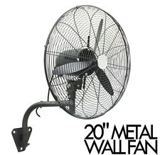"110V 60Hz 20"" Wide Angle Oscillation Metal Wall Mount Fan"