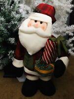 "Santa Claus Holding presents DOOR GREETER Large Holiday Plush 26"" Tall"