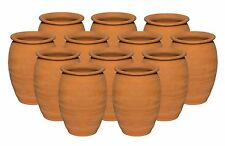 (12 Pack) Jarritos/Cantaritos de Barro, Mexican Clay Cups Ethnic Containers 12oz