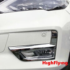 For Nissan X-trail 2017 Chrome Front & Rear Fog Lamp Decorative Cover Trim 4pcs
