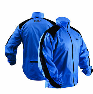 Heavy Rain Blue Jacket 100% Waterproof High Visibility Running Top Quality
