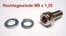1x Gewinde Inbusschraube M8 x 1.25 Rechtsgewinde L = 20mm Schraube rechts neu