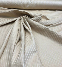 Ali Champ Beige Stripe Drapery Table cover Polyester Fabric By the yard