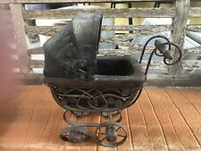 """Antique Doll Carriage For 4""""-12"""" Dolls"""