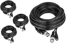 4x 100FT RG59 CCTV Professional Security Camera Wire Cable Siamese TVI CVI AHD