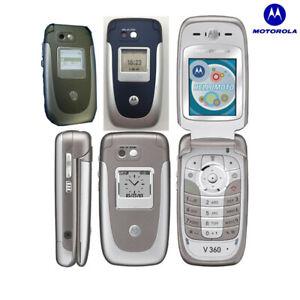 "Original Motorola V360 Unlocked Mobile Phone Bluetooth 1.9"" GSM Flip Cell Phone"