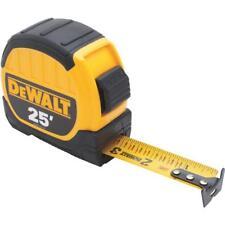 "(1)-DeWalt 25' X 1-1/8"" Wide Blade SAE Locking Tape Measure DWHT36107"
