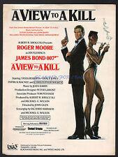JAMES BOND A VIEW TO A KILL ORIG SHEET MUSIC DURAN DURAN JOHN BARRY 1985