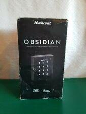 Kwikset Obsidian Keyless Touchscreen Deadbolt Venetian Bronze