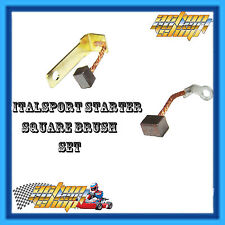 GO KART SQUARE BRUSH REPAIR KIT ITALSPORT STARTER MOTOR ROTAX X30 KA100
