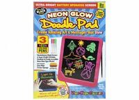 Neon Light Up Tablet Kids Glow Pad Draw Doodle Board Art Playset Christmas toy