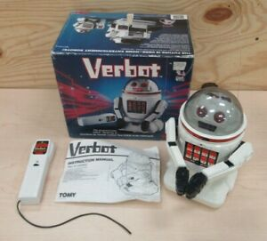 Vintage 1984 Tomy Verbot With Original Box & Instructions/Robot/Free Shipping!