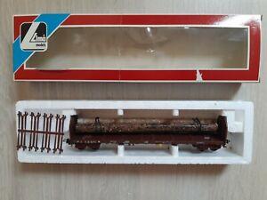 LIMA-SNCF -GRAND WAGON  PLAT  A  RANCHERS TRANSPORT DE BOIS - Ech HO -Ref:309044