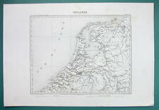 1846 MAP - HOLLAND the Netherlands
