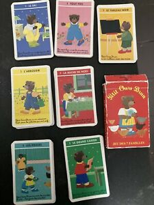 Vintage Children's playing cards pack - Happy Families (in French)