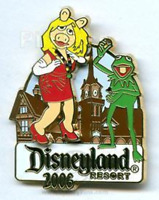 Disney Pin 47045 DLR Trading Nights Collection 2006 Miss Piggy Kermit Muppets LE