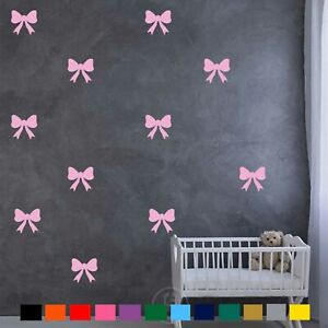 Bow Wall Stickers Baby Girl Wall Decals Kids Room Bedroom Living room Home Decor
