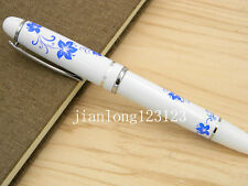 Blue And White Porcelain With Redbud Flower Painting Metal Rollerball Pen