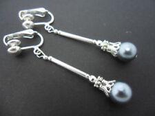 Versilberter Mode-Ohrschmuck mit Kristall-Perlen
