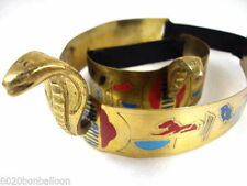 Belly Dance Costume Egyptian Brass Cleopatra Cobra Crown & Armlet Halloween