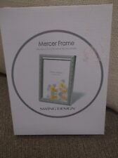 MERCER FRAME FITS 5 IN X 7 IN PHOTO SWING DESIGN WOOD SILVER COLOR NEW IN BOX