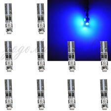 10 x Blue 58 70 73 74 T5 Dashboard Gauge License Plate 3 3528 SMD LED Bulb Light