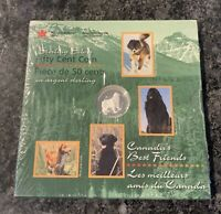 1997 Sterling Silver 50 Cent Canada's Best Friends Newfoundland Uncirculated!