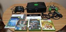 Microsoft XBOX Original Black Console 3 Games & 2 Controllers Good Condition PAL