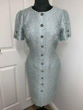 Dolce & Gabbana D&G floral jacquard brocade crystal jewel dress IT44 UK12US8EU40