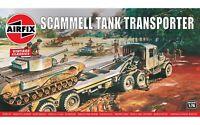 Airfix Vintage Classic Scammel 1:76 Scale Plastic Model Tank Transporter A02301V