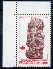 STAMP TIMBRE FRANCE NEUF N° 2116a ** STATUE CATHEDRALE AMIENS / ISSUS DE CARNET