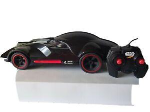 "Hot Wheels Star Wars Darth Vader Remote Control Car 12"" Mattel Tested Works"