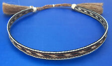 Western Cowboy/Cowgirl Tassel Hat Band Black/Brown/White Horsehair