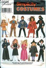 Simplicity 9698 CHILD Witch Cowgirl Knight Ninja Pirate Costume Pattern UNCUT FF