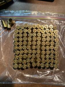 100 X Pack fired Brass Casing Shells Art Craft 9mm  Luger 9x19