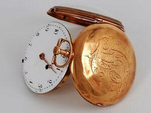 Antike Schlüssel Taschenuhr 14k Gold LEDERT 30 Juli 1845 Einfuhrpunze Österreich