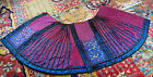 High Quality Antique Chinese 19th C. Silk Embroidery Skirt In Red Plum Color