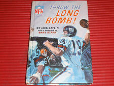 VINTAGE NFL FOOTBALL BOOK THROW THE LONG BOMB 1967 FORWARD BY BART STARR