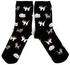 LADIES BLACK KITTEN KITTENS CATS EVERYWHERE SOCKS UK 4-8 EUR 37-42 USA 6-10