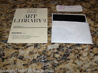 Art Library 2 (Commodore 64, 1986) C64 Game 5.25 Inch Floppy Disk