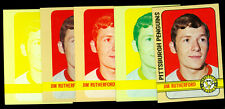 1972-73 TOPPS # 97 JIM RUTHERFORD PROGRESSIVE PROOF SET of 5 MINT UNIQUE 2-LOA's