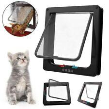 4 Way Pet Cat Small Dog Supplies Lock Lockable Flap Door Gate Telescoping Frame